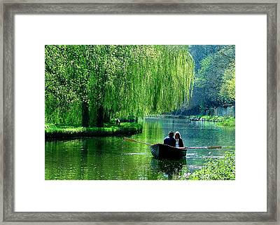 Romance On The Canal Framed Print by Daniela White