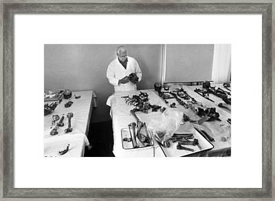 Romanov Skeletons, Forensic Examination Framed Print by Ria Novosti
