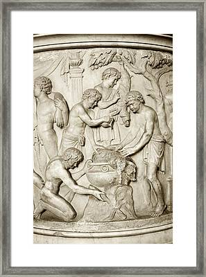 Romans Cooking, Detail From Urn Framed Print
