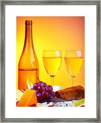 Romantic Dinner Framed Print by Anna Om