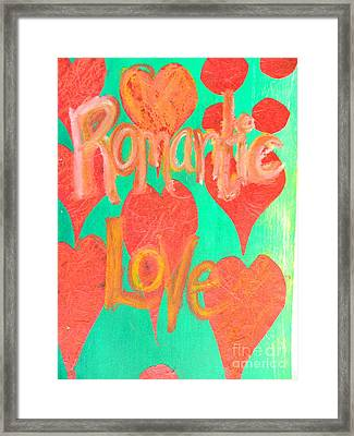 Romantic Love Framed Print