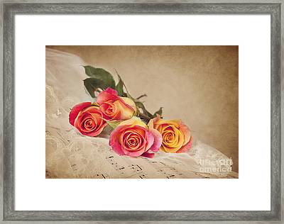 Framed Print featuring the photograph Romantic Music by Cheryl Davis