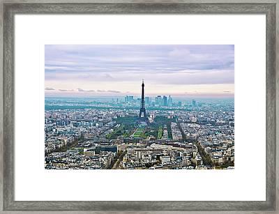 Romantic Paris Framed Print by Photo by Volanthevist