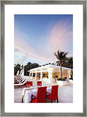 Romantic Place Framed Print by Setsiri Silapasuwanchai