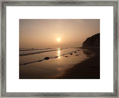 Romantic Sunset Framed Print