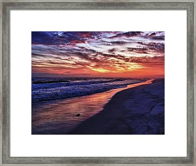 Romar Beach Sunset Framed Print