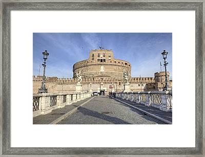 Rome - Castel Sant'angelo Framed Print