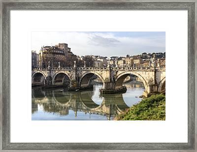 Rome - Ponte Sant'angelo Framed Print by Joana Kruse