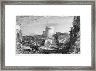 Rome: Appian Way, 1833 Framed Print by Granger