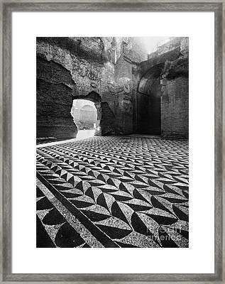 Rome: Baths Of Caracalla Framed Print by Granger