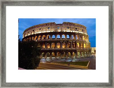 Rome Colosseum Dusk Framed Print by Axiom Photographic