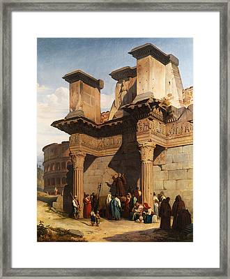 Rome Forum Framed Print by Pierre Bonirote