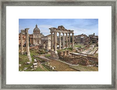 Rome Forum Romanum Framed Print by Joana Kruse