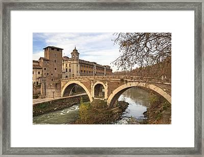 Rome Isola Tiberina Framed Print by Joana Kruse