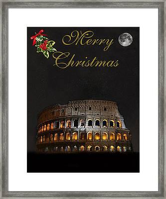 Rome Merry Christmas Framed Print