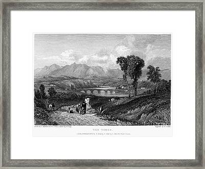 Rome: Milvian Bridge, 1833 Framed Print by Granger