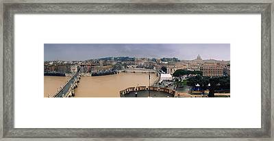 Rome Panorama Framed Print by Shevi