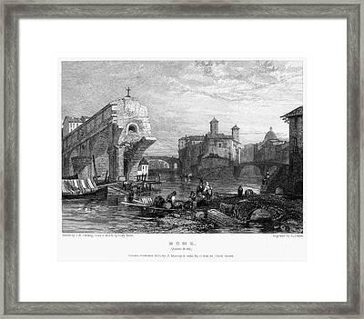 Rome: Ponte Rotto, 1833 Framed Print by Granger