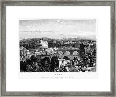 Rome: Scenic View, 1833 Framed Print by Granger
