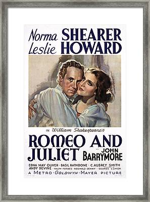 Romeo And Juliet, Leslie Howard, Norma Framed Print by Everett