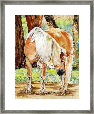 Romeo's Veil Framed Print by Maria Barry