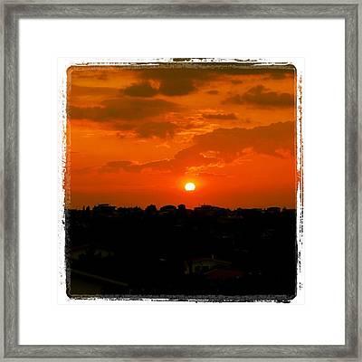 Rome's Sunset Framed Print