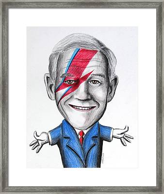 Ron Paul Is Ziggy Stardust Framed Print by Eric McGreevy