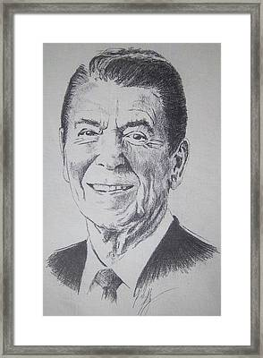 ron Framed Print by Rich Kelly