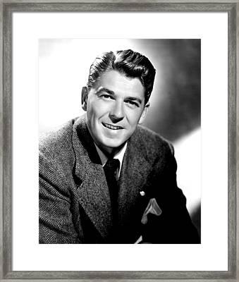 Ronald Reagan, 1949 Framed Print by Everett