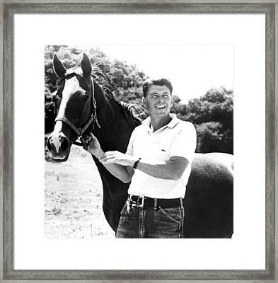 Ronald Reagan And Friend, 1959 Framed Print by Everett