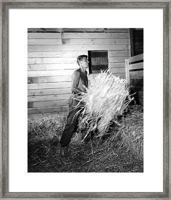 Ronald Reagan At His San Fernando Framed Print by Everett