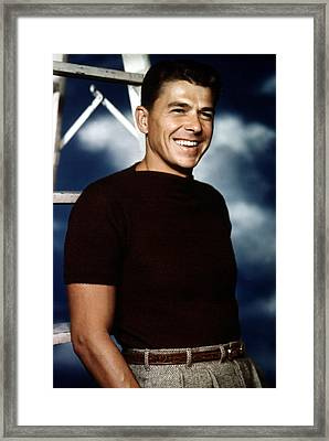 Ronald Reagan In The 1940s Framed Print