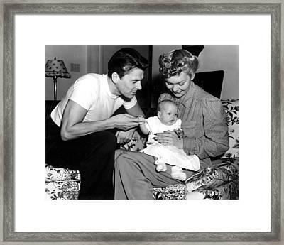 Ronald Reagan, Maureen Reagan, Jane Framed Print by Everett