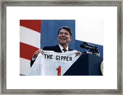 Ronald Reagan. President Reagan Holding Framed Print