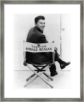 Ronald Reagan Was Host Of The General Framed Print by Everett
