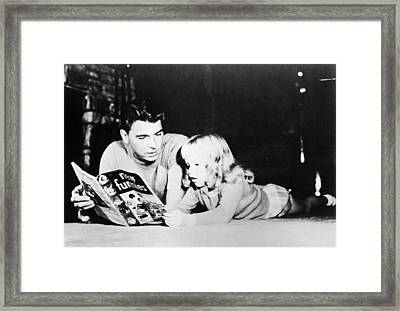 Ronald Reagan, With Daughter Maureen Framed Print