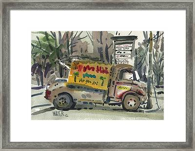 Ronnie John's Framed Print by Donald Maier