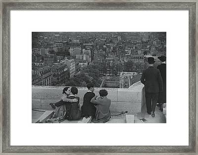 Roof Of 14th Century Keep Looking North Framed Print by Maynard Owen Williams