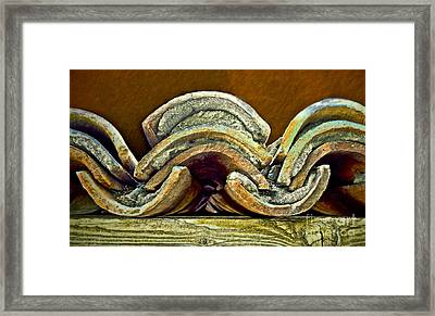 Roof Tiles Framed Print by Gwyn Newcombe