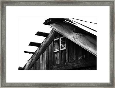 Roof Top Framed Print by Loretta Justice