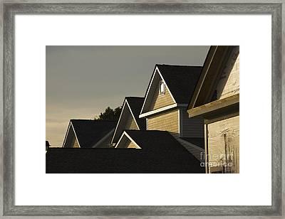 Rooflines At Sunset Framed Print