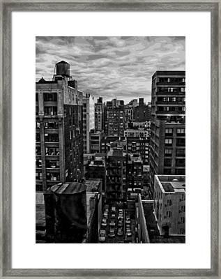Rooftop Bw16 Framed Print