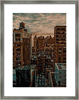 Rooftop Color 16 Framed Print by Scott Kelley