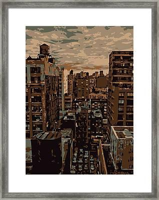 Rooftop Color 6 Framed Print