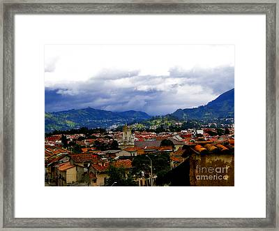 Rooftops Of Cuenca Ecuador Framed Print by Al Bourassa