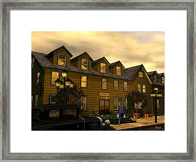 Framed Print featuring the digital art Room And Board by John Pangia