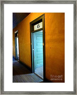 Room Six In Old Hotel Framed Print