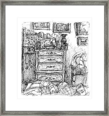 Room Study Framed Print by Elizabeth Carrozza