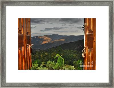 Room With A View Framed Print by Joann Vitali
