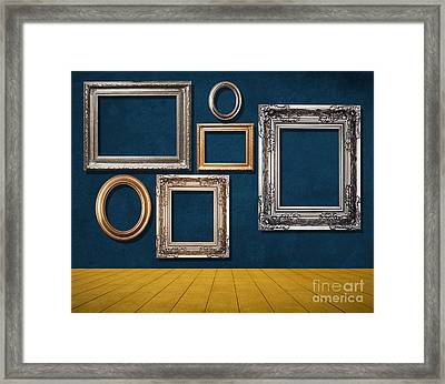 Room With Frames Framed Print by Atiketta Sangasaeng